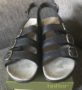Hotter-Ladies-Navy-Leather-HARMONY-COMFORT-CONCEPT-Sandals-7-Brand-New