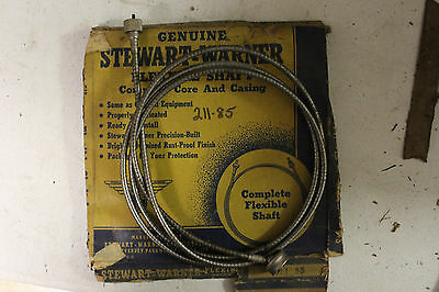 NOS Stewart-Warner 106-65 Speedometer Cable /& Casing Chrysler-Ford 1930s