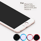 Aluminium Fingerprint Support Touch ID Home Button Sticker For iPhone 7 5S 6S