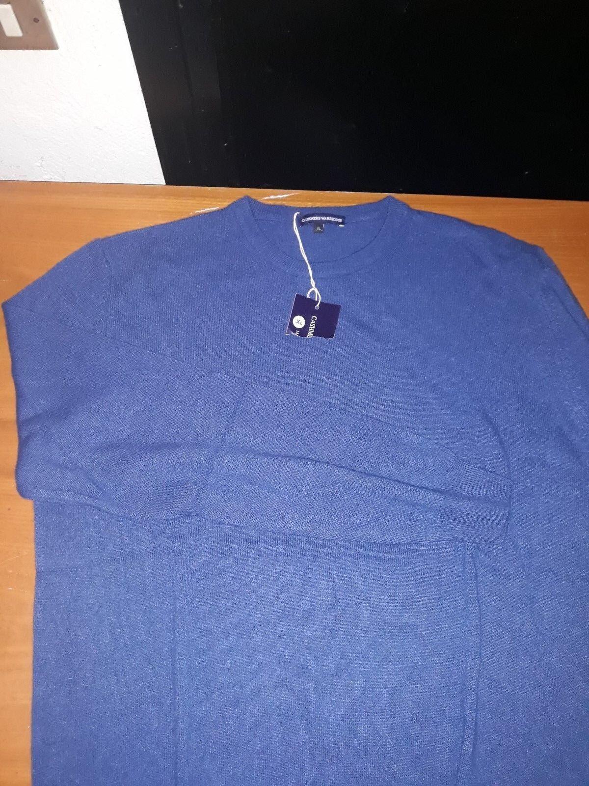 Cashmere warehouse - maglione lana uomo - XL - - - blu - nuovo con etichette strappa 9e5966