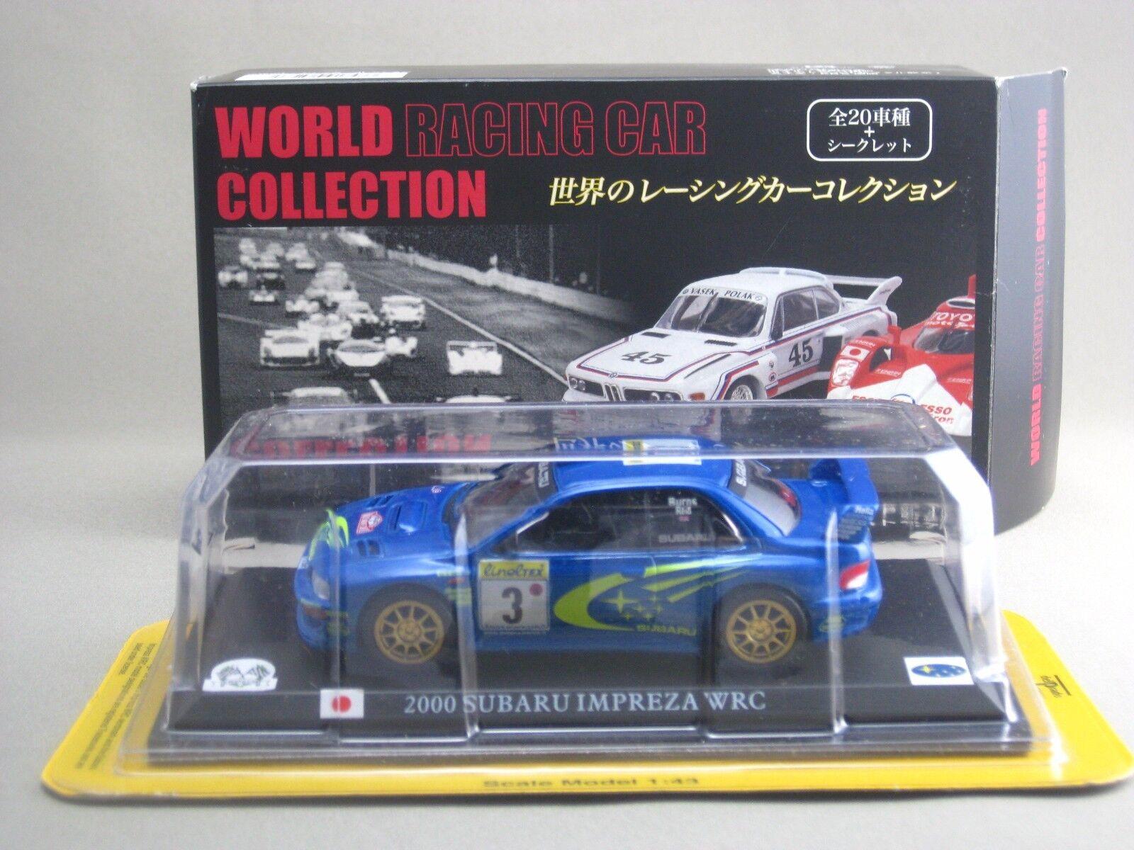 SUBARU IMPREZA WRC 2000 1 43 DIE CAST MODEL WORLD RACING CAR COLLECTION DELPRADO