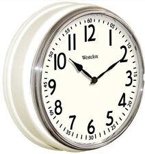 "Westclox 12"" White Vintage Kitchen Wall Clock Quartz Analog in Factory Box"