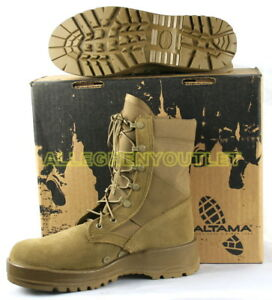 69bb741a664 Details about US Military HOT WEATHER ARMY COMBAT BOOTS Vibram Soles Coyote  Brown USA Made NIB
