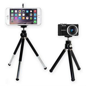 Mini Tripod Stand For Digital Cameras + Mobile Phone Bracket Clip Clamp - Black
