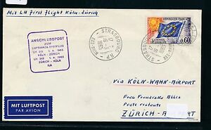 80741-LH-FF-Koeln-Zuerich-Schweiz-1-4-65-Brief-ab-Europarat