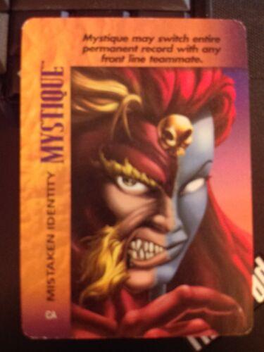 Marvel Overpower Powersurge Mystique Mistaken Identity NrMint-Mint Card