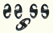 5x S-BINER GEAR CLIPS, MOLLE, PALS, Bug-out, Speed Clip, Survival, Bushcraft