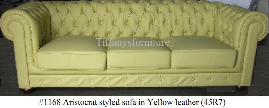 Gorgeous Aristocrat Styled Modern top grain premium Leather loveseat #1168