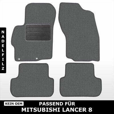 ab 2007 Auto Fußmatten Mitsubishi Lancer 8 CY0 - Schwarz Nadelfilz 4tlg hon5
