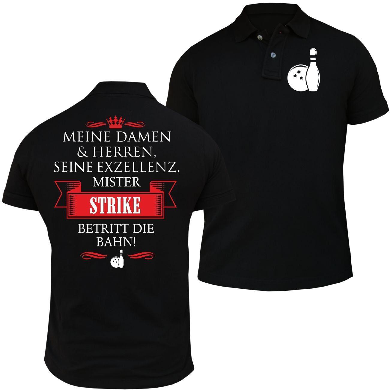 POLO Shirt Seine Exzellenz DER BOWLER Bowling bowlen Strike Mannschaft Geschenk  | Beliebte Empfehlung  | Sale Outlet  | Nutzen Sie Materialien voll aus