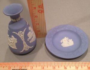 Vintage-Wedgewood-Tiny-Vase-amp-Plate