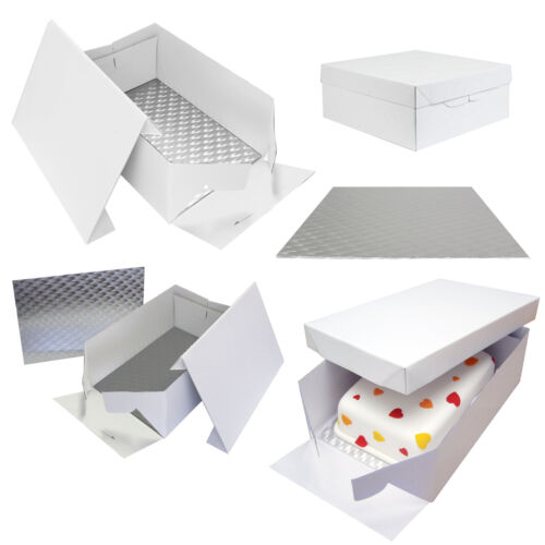 PME Oblong Cake Baking Sugarcraft Box /& Support Stand Decoration Card Board