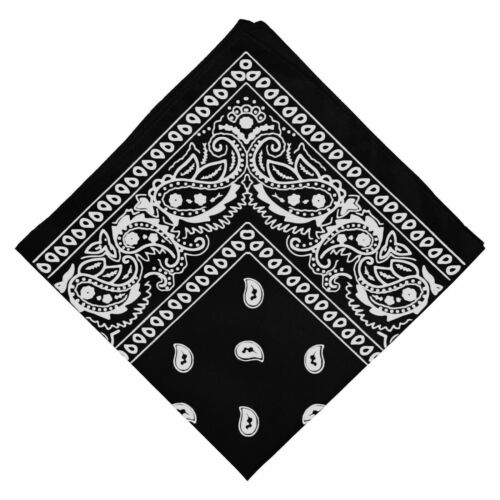 PLAIN BANDANNA 100/% Cotton Cow Boy Girl Biker Neck Scarf Head Band Bandana B3 UK