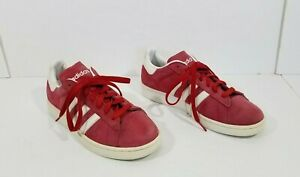 100% genuine excellent quality coupon code Details about Adidas Campus sneakers men suede red white low top size 8