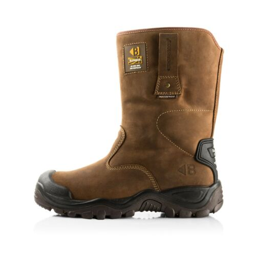 Stivali 1 impermeabili Bsh010br sicurezza Brown di e Buckler paio calzini di FB76Zcc