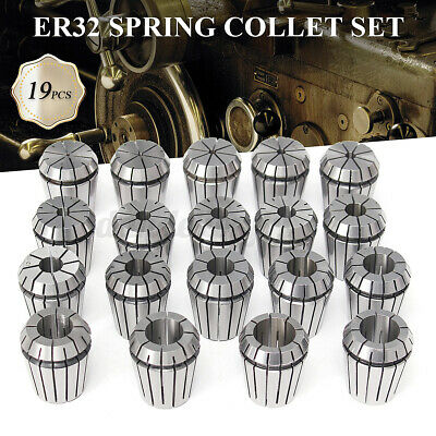 19PCS ER32 COLLET SET 2MM to 20MM in METRIC ACCURATE HIGH ACCURACY CNC