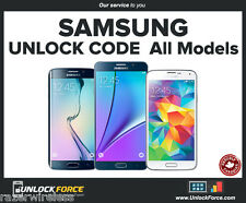 Fido Rogers Samsung Unlock Code Galaxy S8 S7 S6 S5 S4 Edge Neo Note Core A5 J3