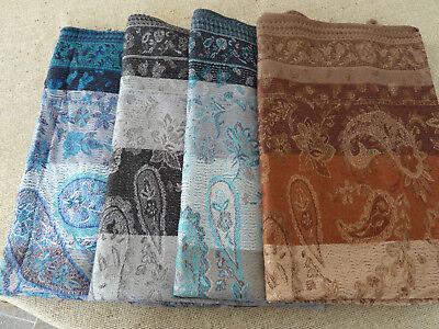 Schals und Tücher JACQUARD SCHAL 70x190 Karo Muster Stola bitte auswählen