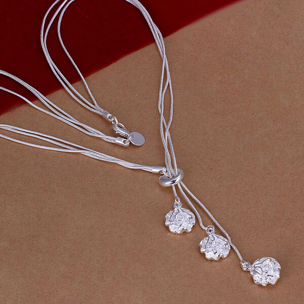 Wholesale Lady /Womens's 925 Silver Jewelry Pendant Necklace Chain Jewellery+box