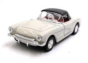 1957-Chevrolet-Corvette-Grigio-Modellino-Auto-Auto-Scala-1-3-4-Licenza