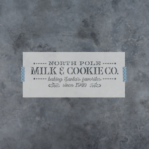 Durable /& Reusable Mylar Stencils North Pole Milk Cookie Stencil