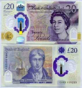 GREAT-BRITAIN-ENGLAND-20-POUNDS-2020-P-396-NEW-DESIGN-POLYMER-QEII-UNC