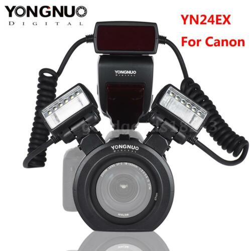 YONGNUO YN24EX ETTL Macro Flash Speedlite Light Dual Head for Canon DSLR Camera