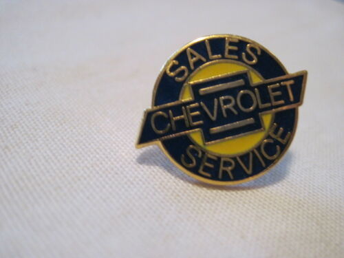 CHEVROLET SALES SERVICE  CHEVY  HAT PIN LOGO,BOW TIE LAPEL PIN,INSIGNIA