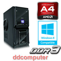 Amd Dual Core Desktop Pc 3.8ghz A4-7300 Cpu Radeon Hd8470d Graphics, 4gb, 500gb