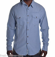 Guess Men's $79 Columbi Blue Button Up Shirt Size Xl