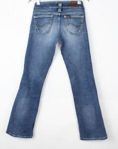 Vintage LEE Women Slim Straight Leg Stretch Jeans Size W26 L30