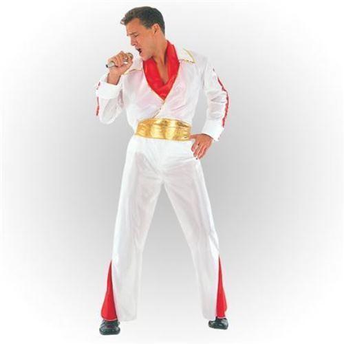 FANCY DRESS MENS ROCK STAR ROCKSTAR THE KING PRESLEY COSTUME