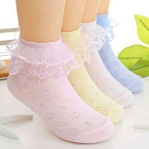 Ete-Printemps-Bebe-fille-Coton-Dentelle-Princess-Socquette-Confortable