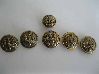 Set of 4 Carved Firefighter American Flag Axe Metal Craft Sewing Buttons