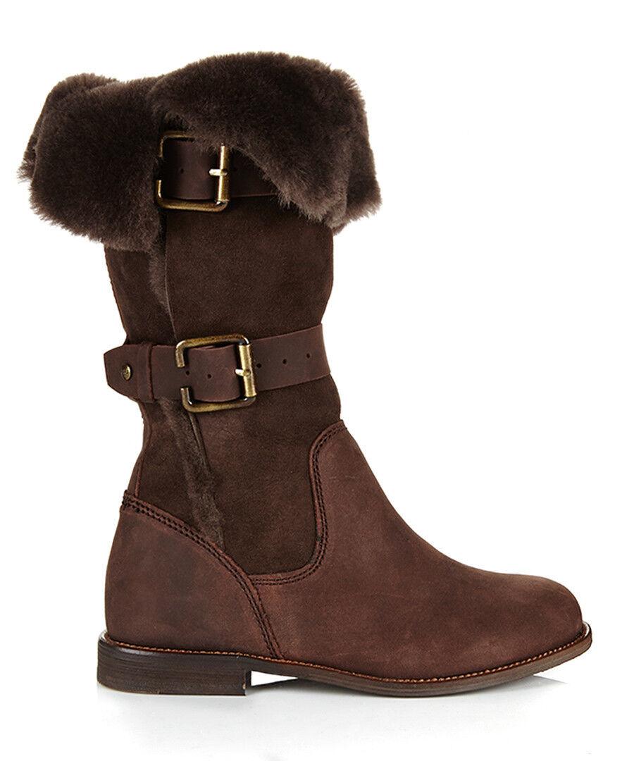 NEW EMU Australia AMBROSE CHOCOLATE sheepskin WINTER boots 10  298