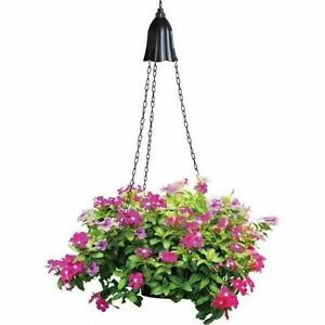 Solar-Powered-LED-Black-Outdoor-Hanging-Planter-Light-GREAT-GIFT-IDEA