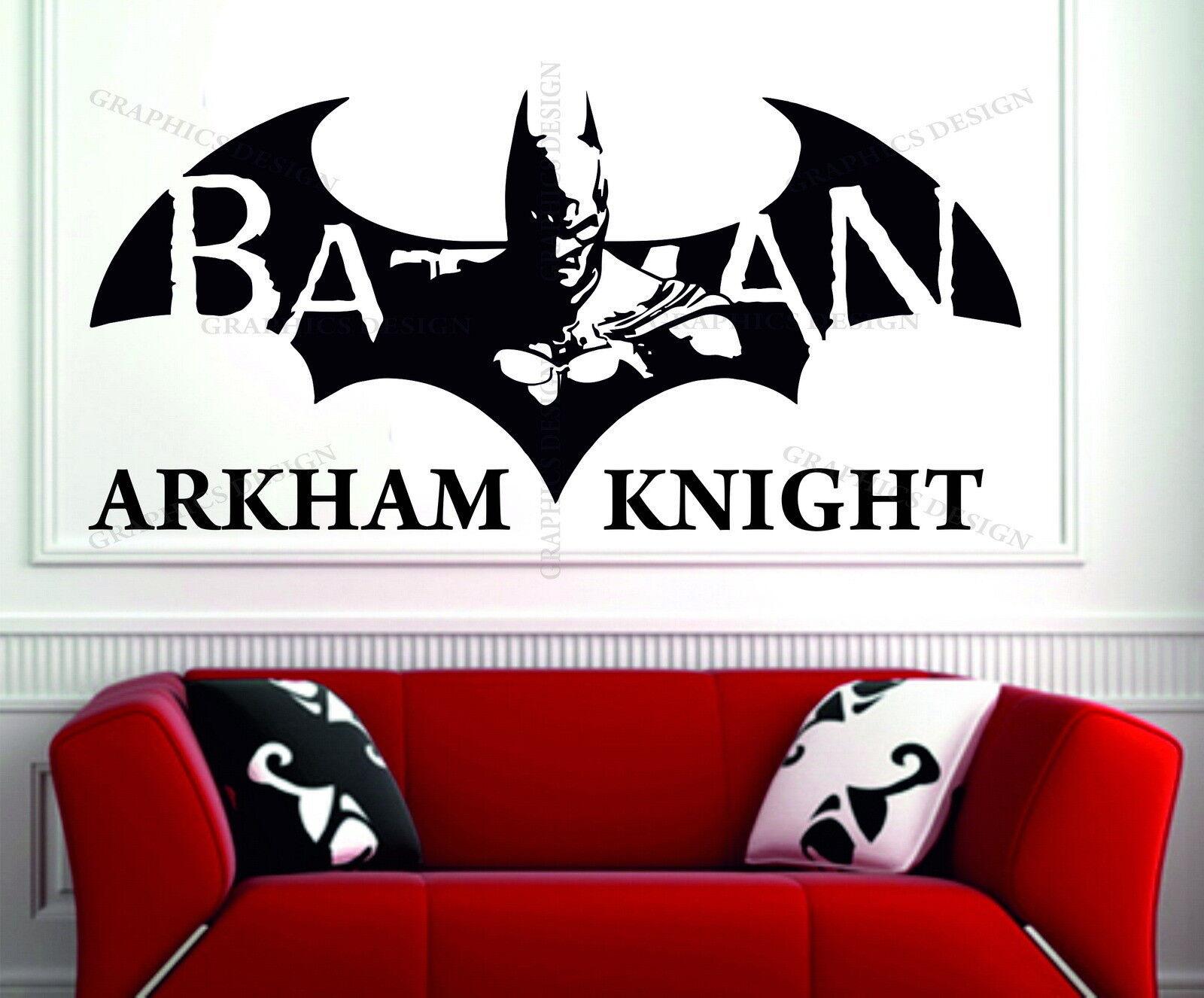 Batman Wall Decal Dark Knight Wall Vinyl a10 Cracked Superhero Wall Sticker