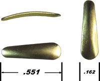 100 Ice Jig Blades Brass slider Make Your Own Custom Ice Fishing Jigs
