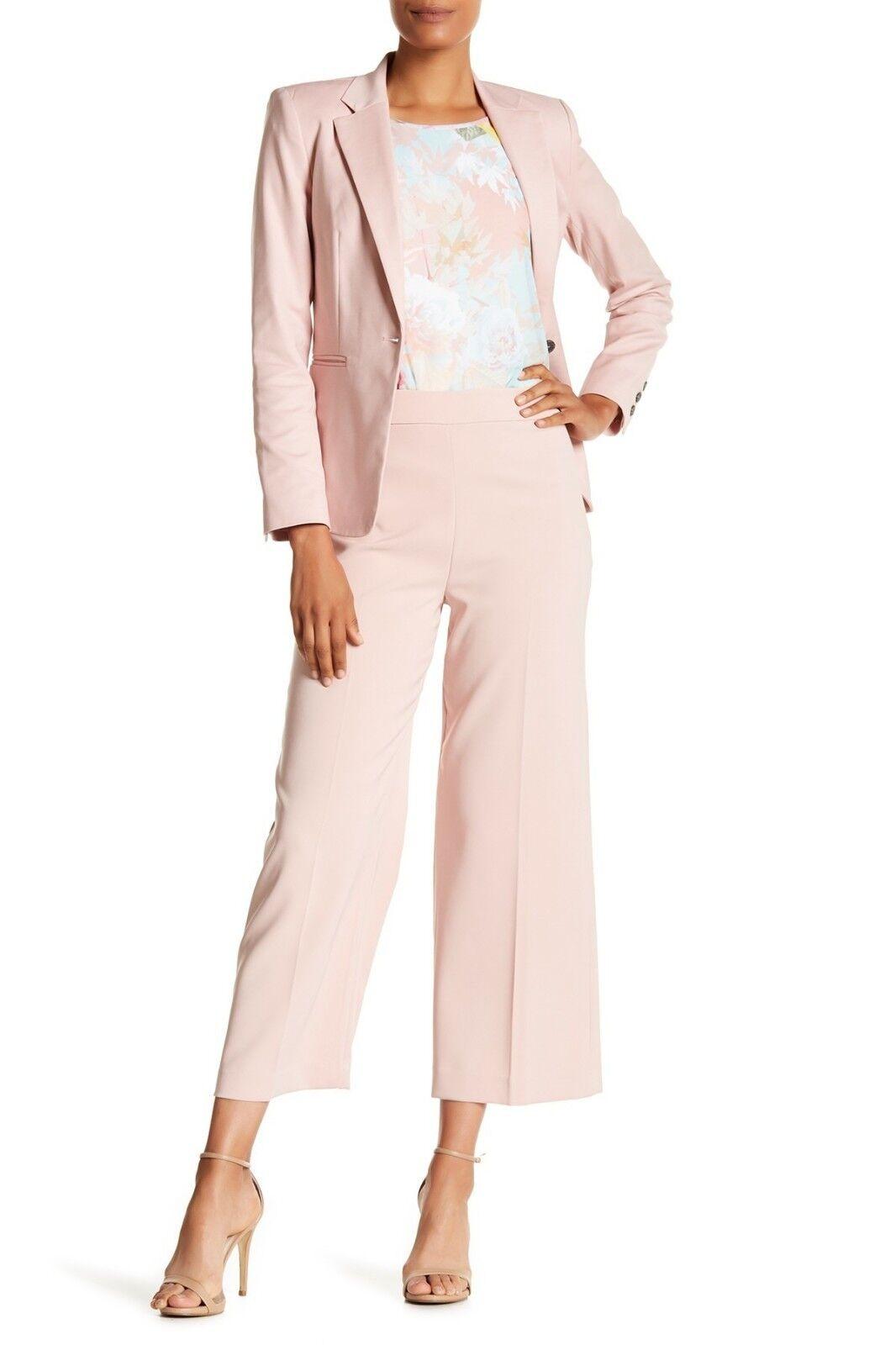 NWT Vince Camuto High-Waist Crop Pants Wild pink Womens sz Petite 10 P Work