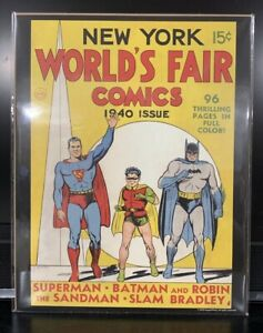 "NEW YORK WORLDS FAIR 1940 SUPERMAN VINTAGE DC COMICS SERIES 11/""X14/"" POSTER"