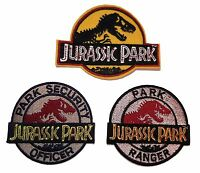 Jurassic Park (set Of 3) Embroidered Logo Patches