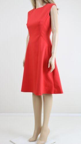 John Lewis Mujer Rojo Taylor de noche Casual Vestido de longitud Midi inteligente UK 6 a 18