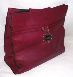 Miche-Dabney-Demi-Bag-Shell-Red-Purse-Classy-Bold-Professional-Career-Womens-NEW