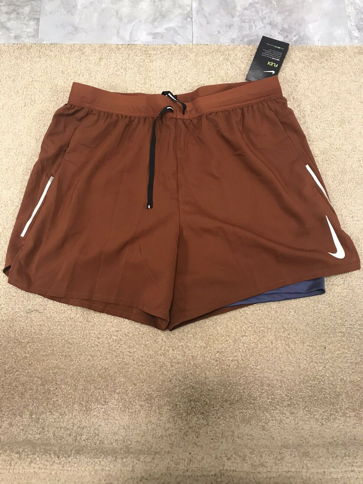 Escalera triángulo excitación  Mens Size Medium M Nike Flex Running Shorts 2 in 1 Green Gray Aj7782-323 for  sale online   eBay