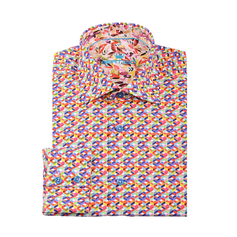 BERTIGO dress shirt MAXIM M52   size XXXL OR 7 brand new retail 159USD