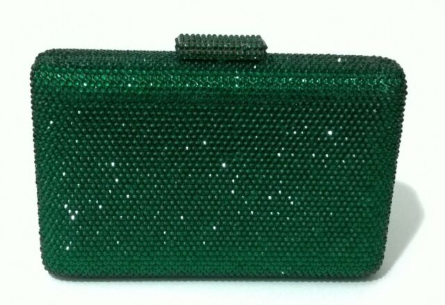 Dark Green~Square Shape Gorgeous Bridal/Prom/Evening Crystal Clutch Bag