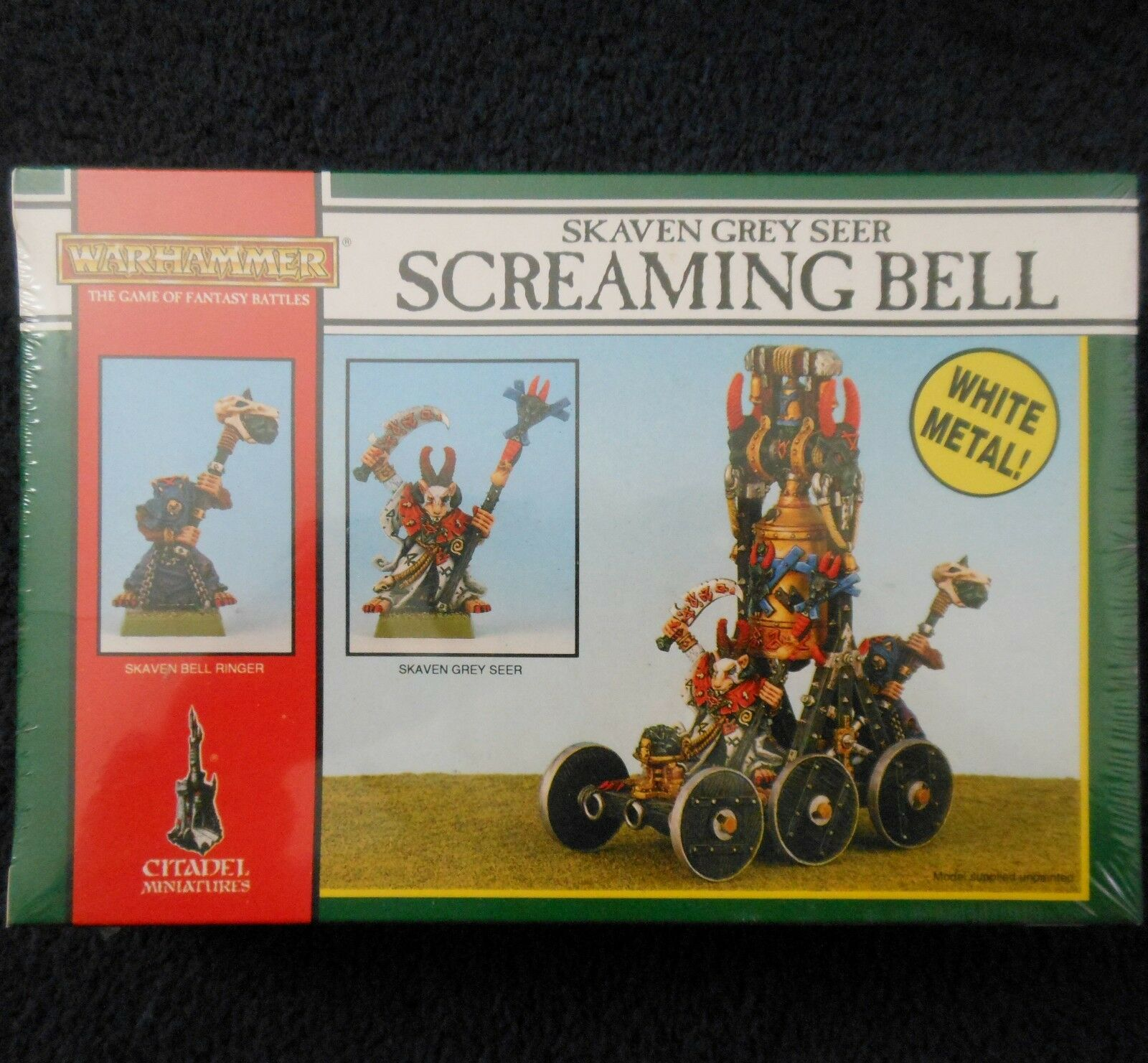 1993 Skaven Screaming Bell Chaos RatHommes Citadel Warhammer Army gris  Seer MIB GW  Nouvelle liste