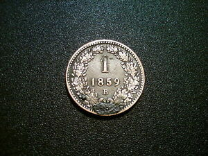 1859 B Autriche 1 Kreuzer Monnaie. Excellente Qualité Ef-afficher Le Titre D'origine