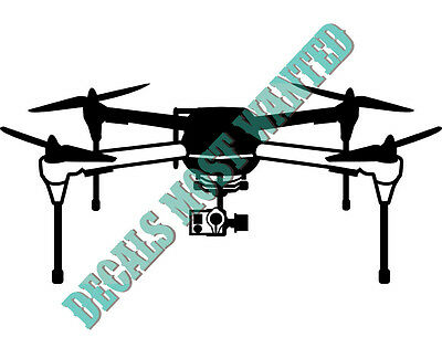 "3DR Iris+Drone /""Drone Pilot /"" UAV Decal car window die cut vinyl"