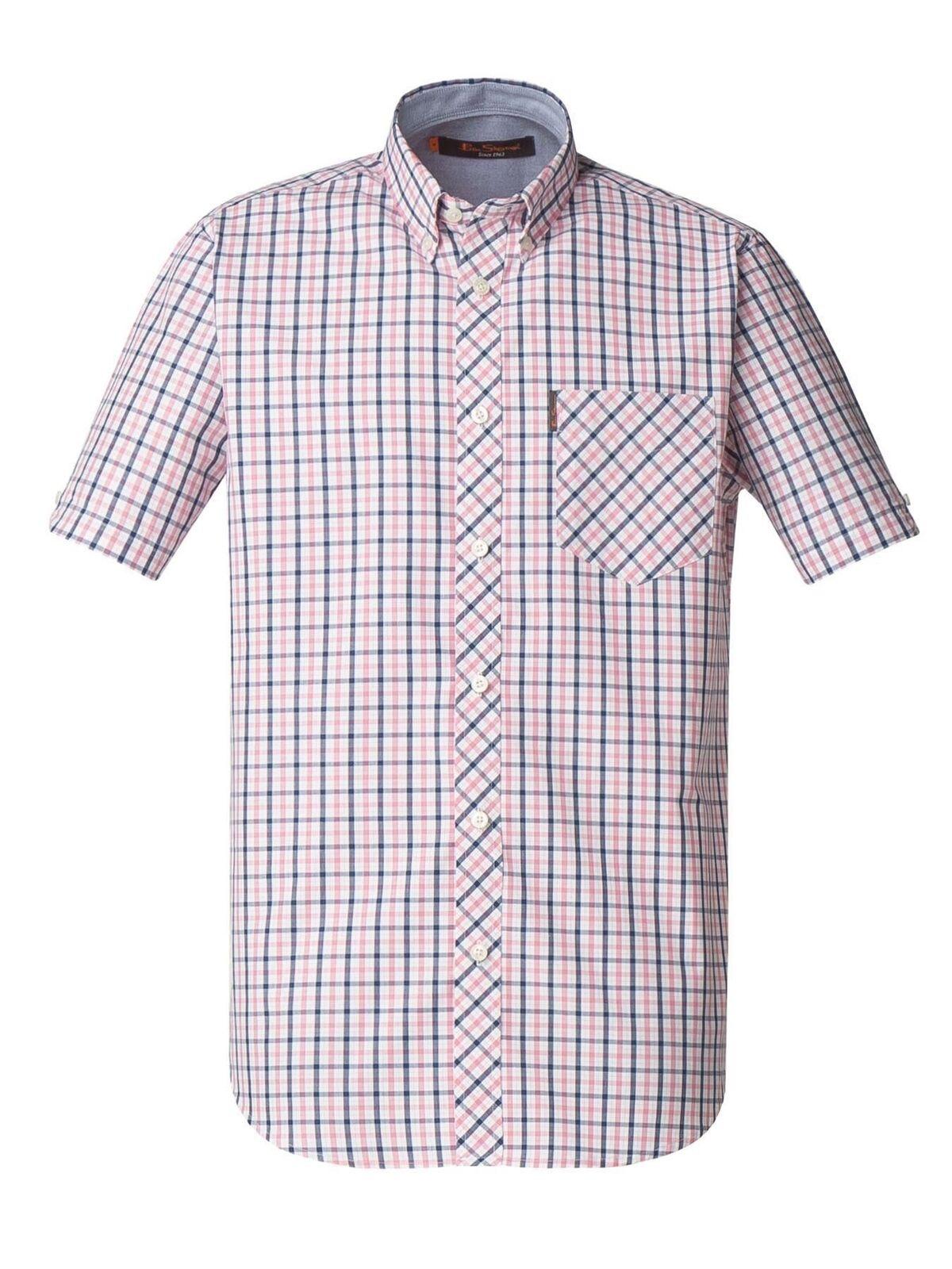 Ben Sherman Mens Big Size Short Sleeved Patterned Shirts (AW18)